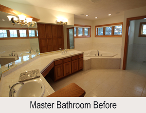 Master Bathroom Makeover Interior Design Firm Wisconsin - Country bathroom makeovers