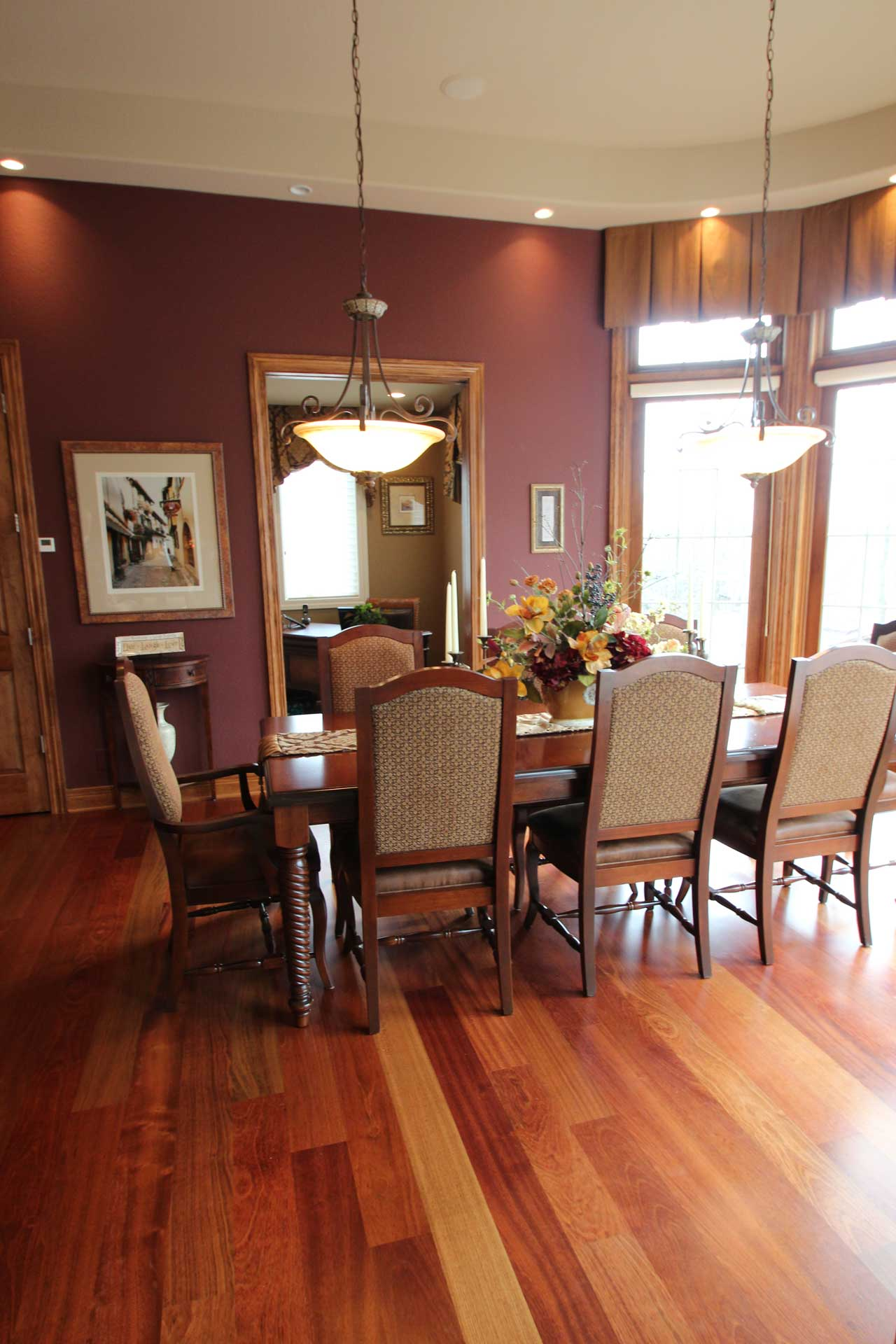 Interior design formal dining room pegasus group