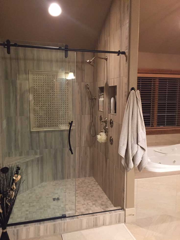 After: Master Bath Shower Remodel | Pegasus Design Group | Interior  Designers