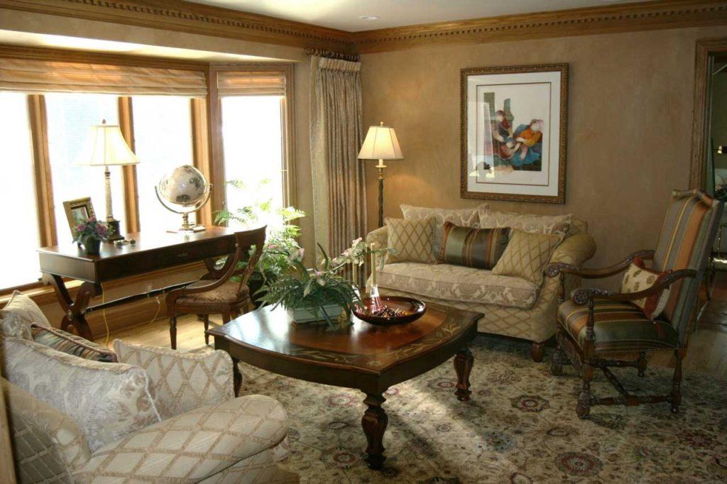 Interior Design Formal Sitting Room | Pegasus Design Group | Milwaukee, WI